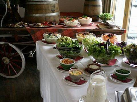 Das Buffet im Restaurant vom Alpin Center Sustenpass