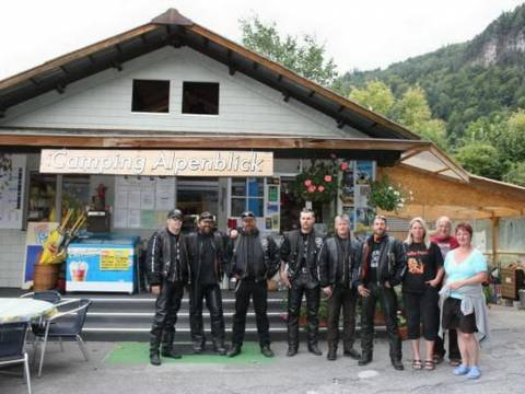 Bikers am Camping Alpenblick